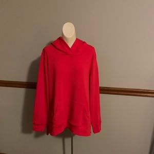 Women's Old Navy cherry red fleece hoodie
